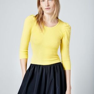 Smythe yellow sweater top size S